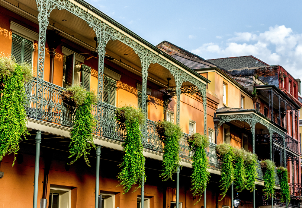 The beautiful architecture in new orleans