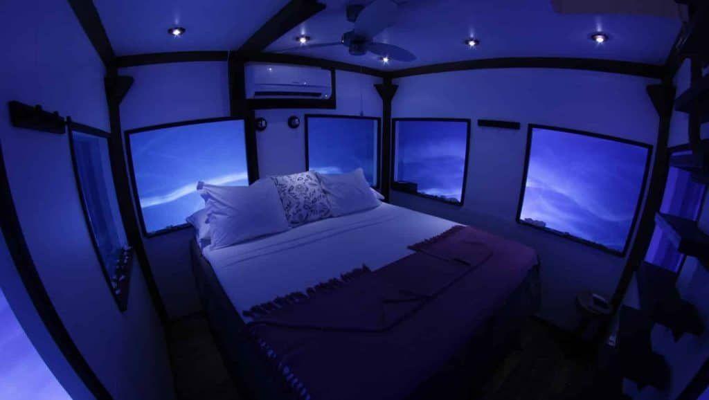 Underwater Bedroom in Manta Resort