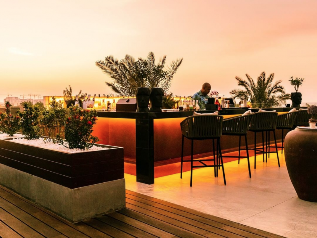 Sadiyat Resort rooftop bar