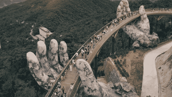 Golden Hands Bridge Vietnam