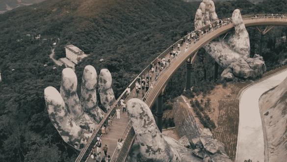 Golden Hands Bridge Vietnam
