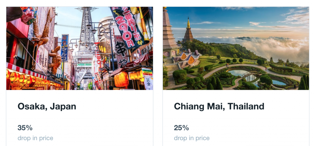 cheap flights in january