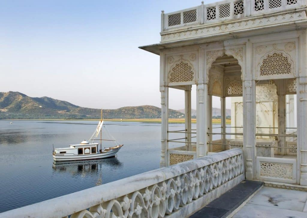 Private boat in Lake Pichola