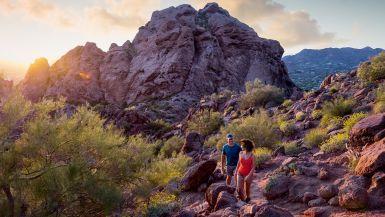Hiking Camelback Mountain, Phoenix