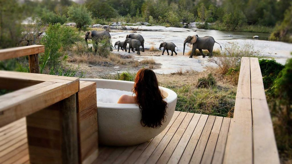 Londolozi's Outdoor Bathtubs