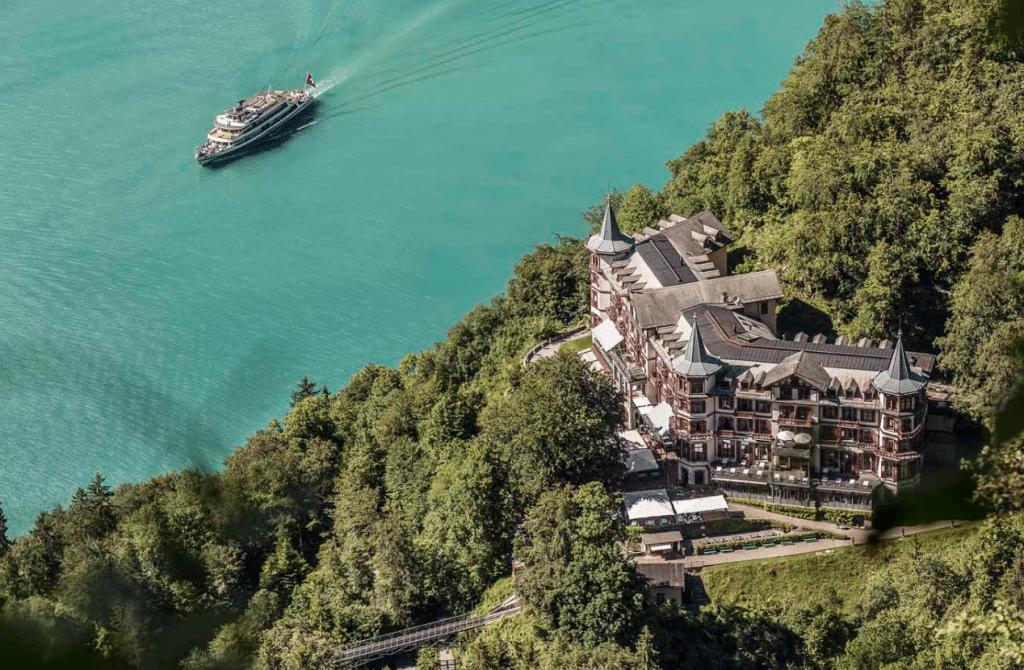The Grand hotel in Switzerland