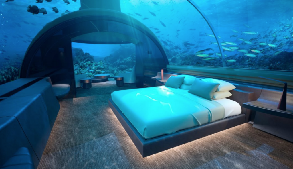 Muraka's underwater bedroom