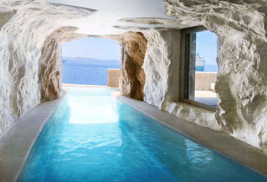 Cavo Tagoo Mykonos main hotel infinity pool