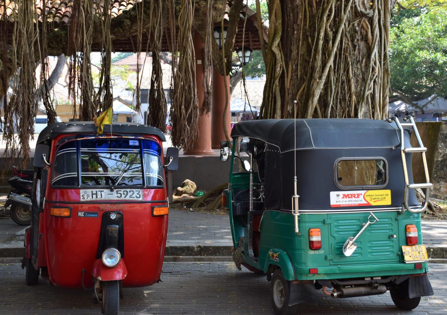 Tuk Tuks In Colombo, Sri Lanka