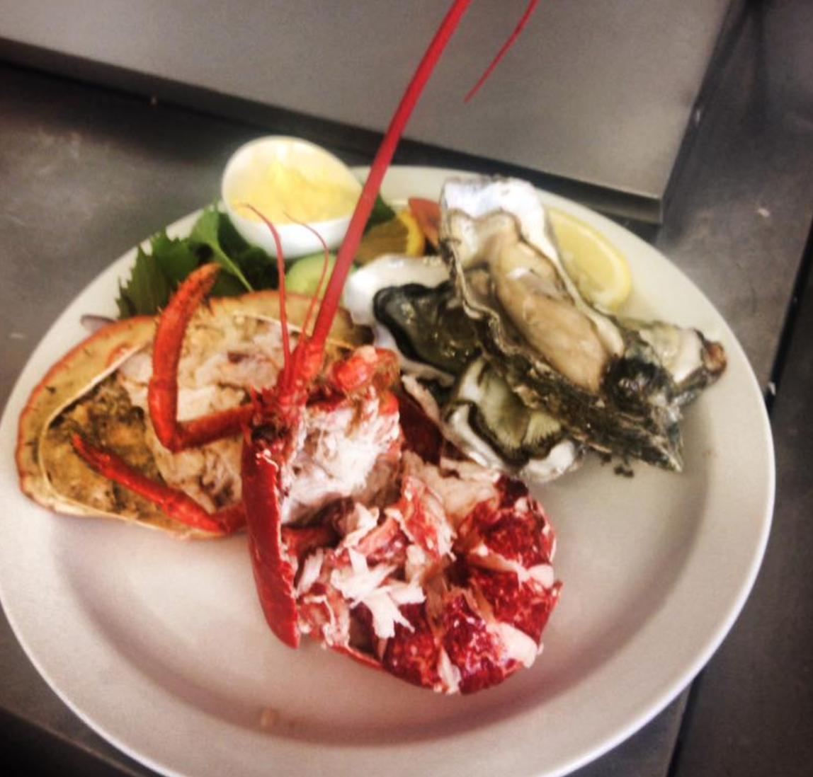 Lobster, Crab And Oysters In Welsh