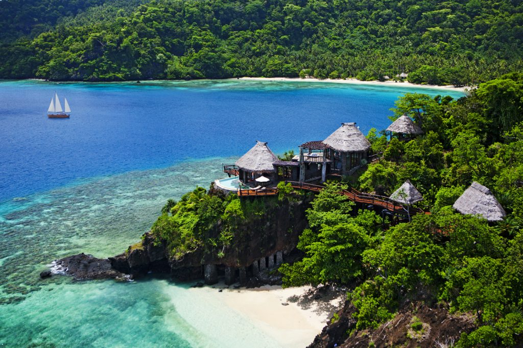 Private paradise resort in Laucala Island