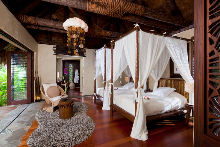 Gorgeous bedrooms in Laucala Island Resort