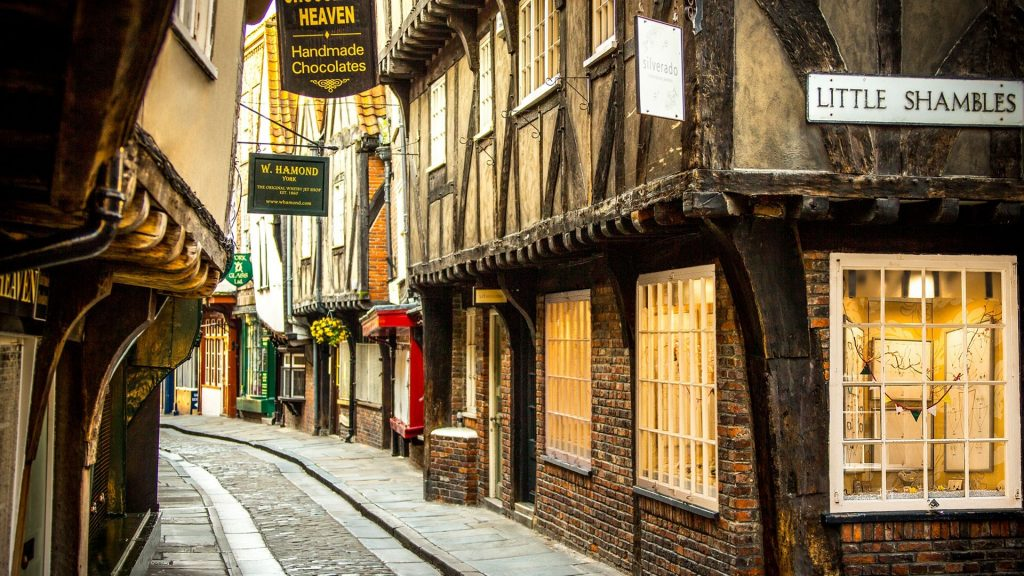 Medieval Shopping Street In York Shambles