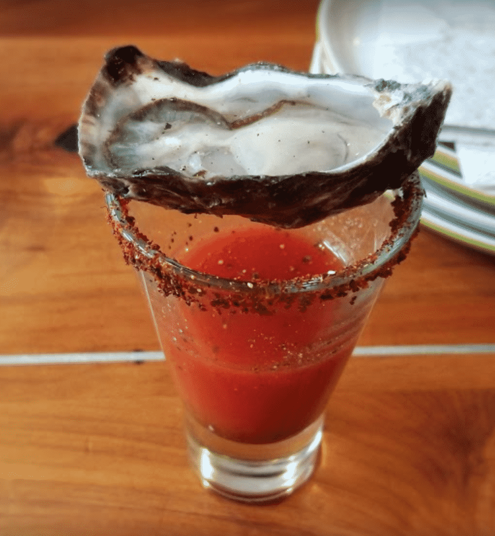 Oyster Bloody Mary Shot