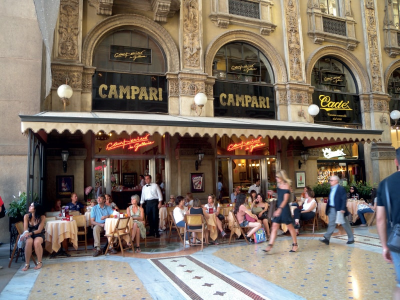 Camparino Bar in Galleria in Milan