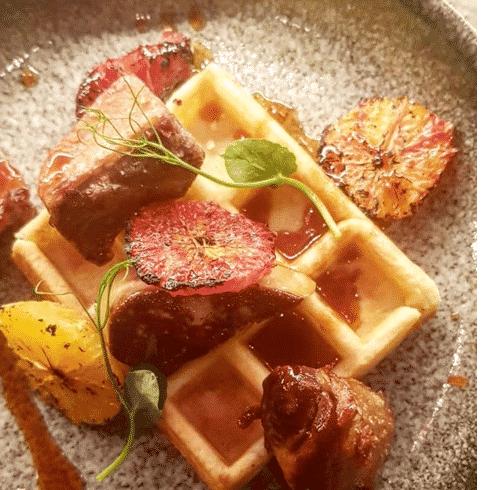 Breakfast Foie Gras Waffles