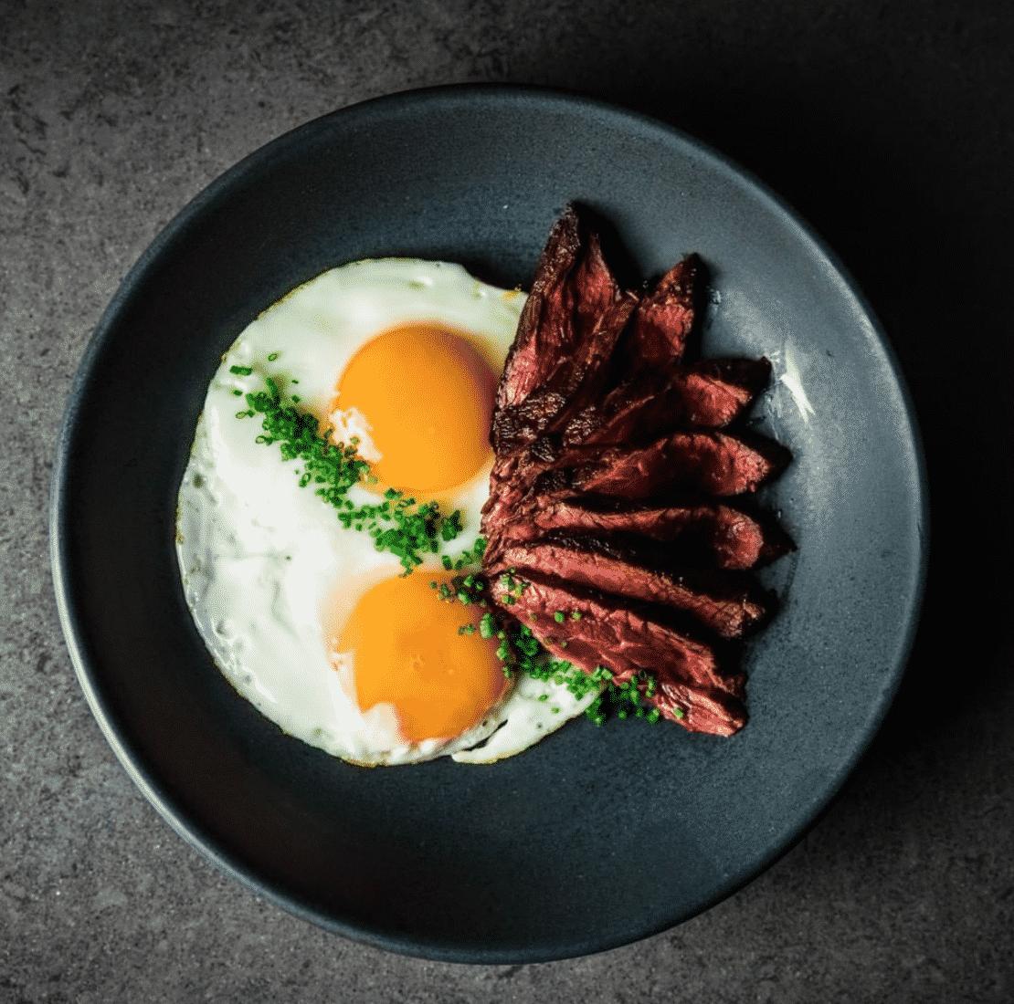 Steak And Eggs Breakfast In London