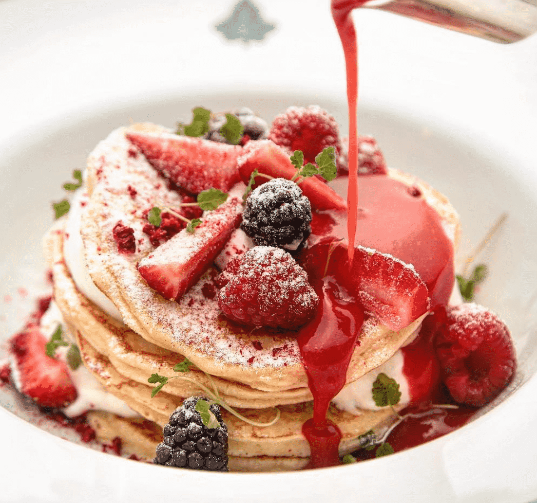 Buttermilk Pancakes With Fresh Berries In London