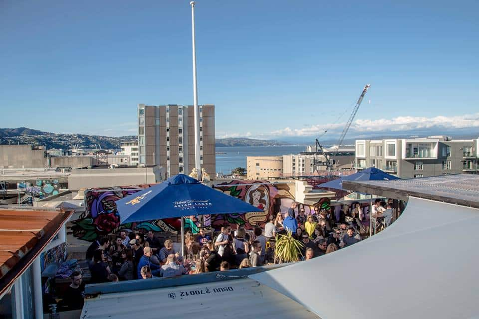 Wellington's first rooftop container bar