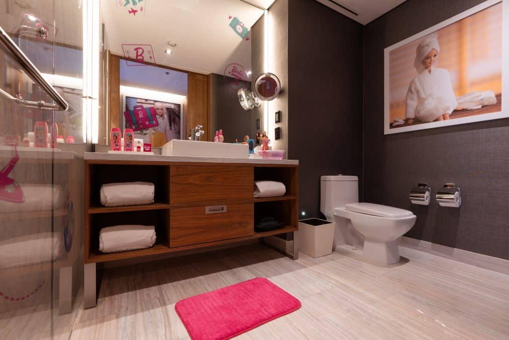 bathroom in Barbie suite