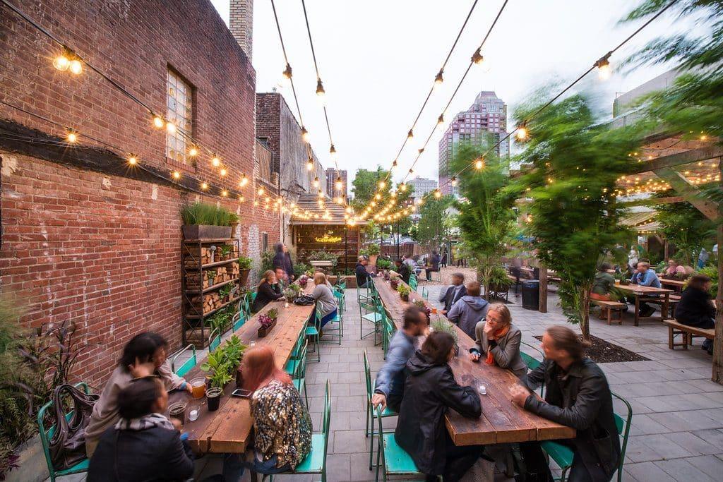 pop-up beer gardens