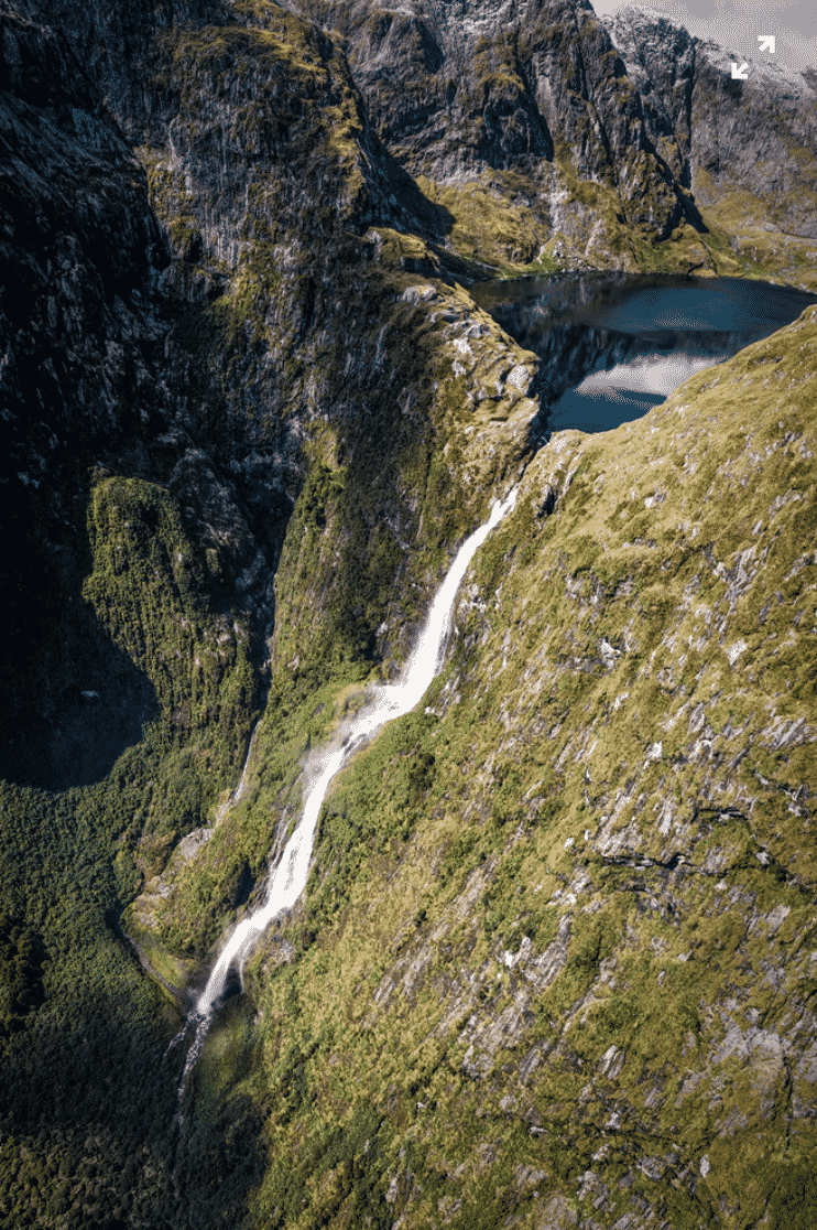 Unspoilt waterfalls in NZ