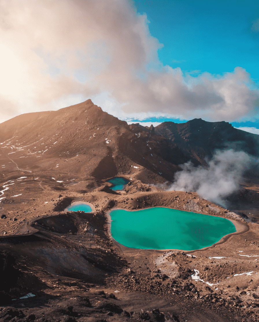 Blue Lagoon in New Zealand