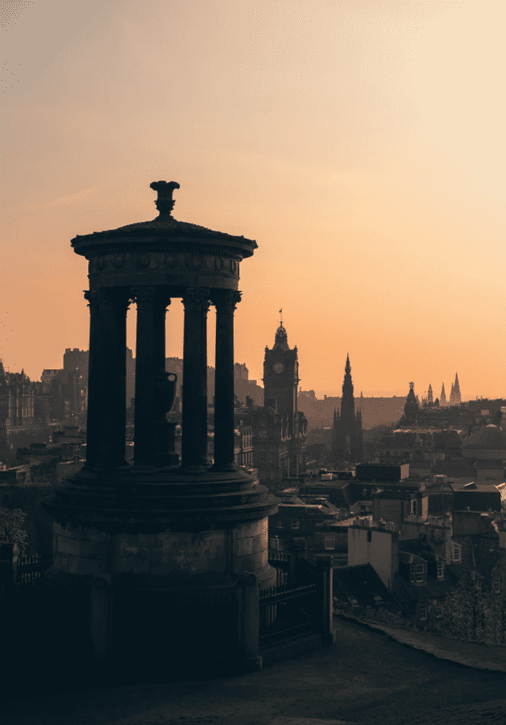 Dugald Stewart Monument In Scotland