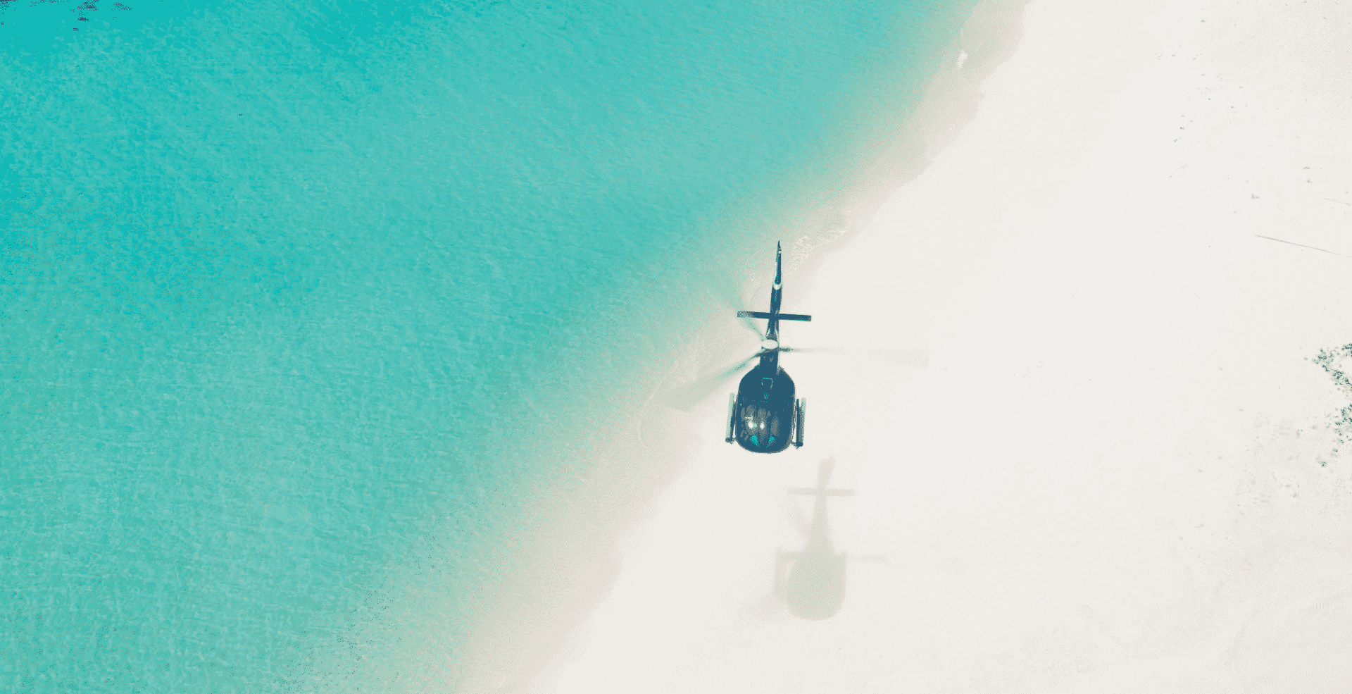 Helicopter transfer to the Island