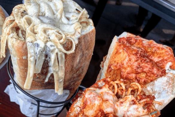Daily Drool #4: Double Carbs? Las Vegas Restaurant Serves A Pasta Stuffed Sandwich