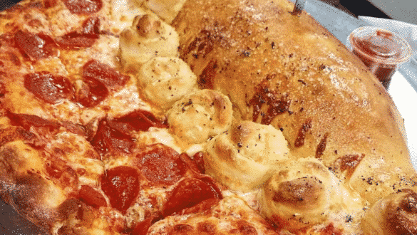 The Garlic Knot Pizza Calzone