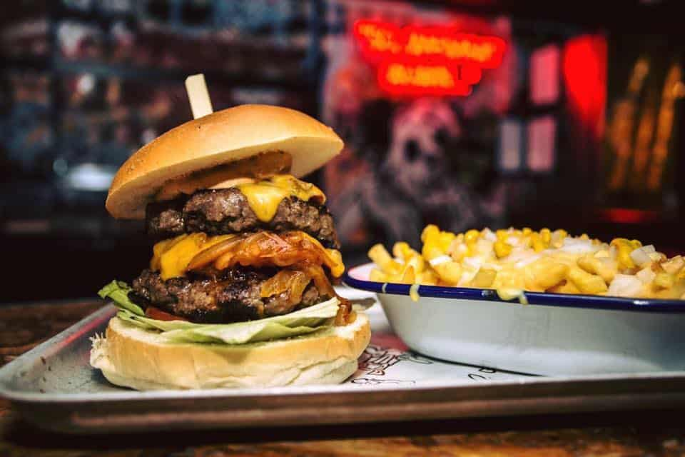 The Boozy Cow Burger