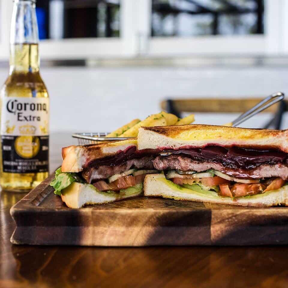 Steak sandwich in Australia