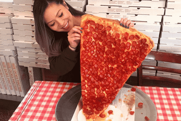 Daily Drool #12: The 2-Foot Long New York Pizza