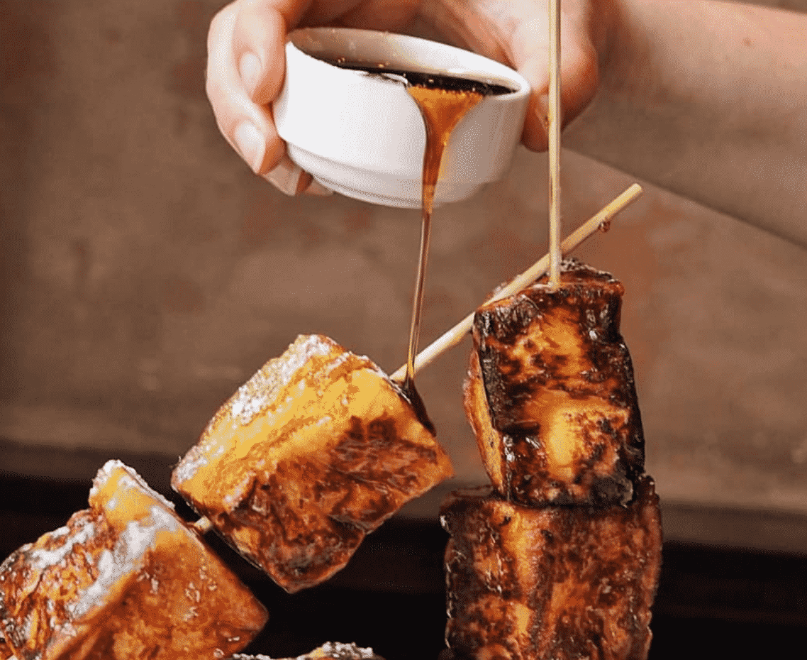 French Toast Skewers New York with maple syrup