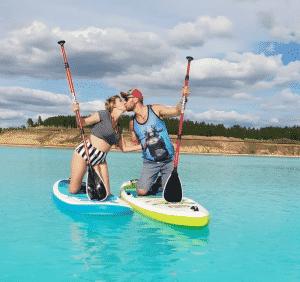 Turquoise Lake In Novosibirsk