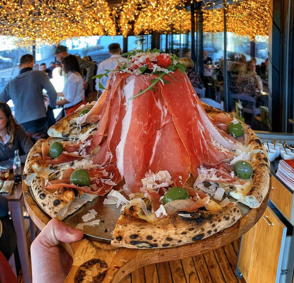 Mind Blowing Layered Prosciutto Pizza