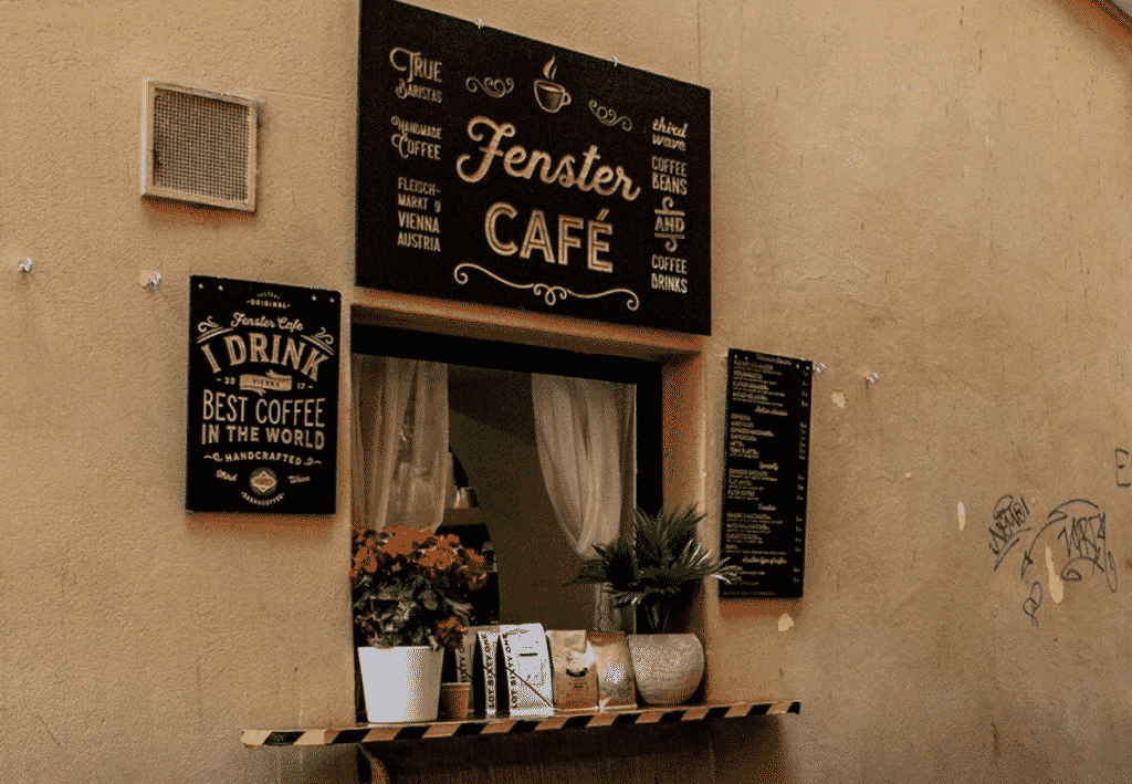 Fenster Cafe  In Vienna