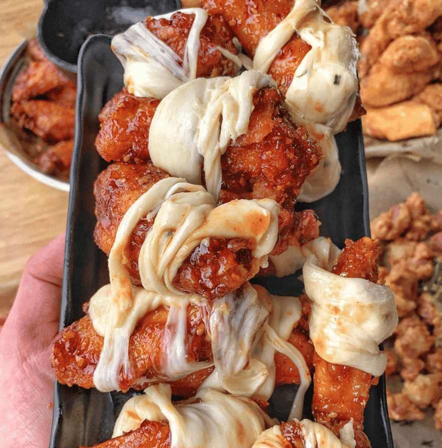 Cheese Wrapped Chicken Wings