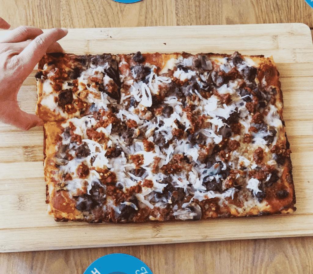The famous rocket pizza in Nebraska