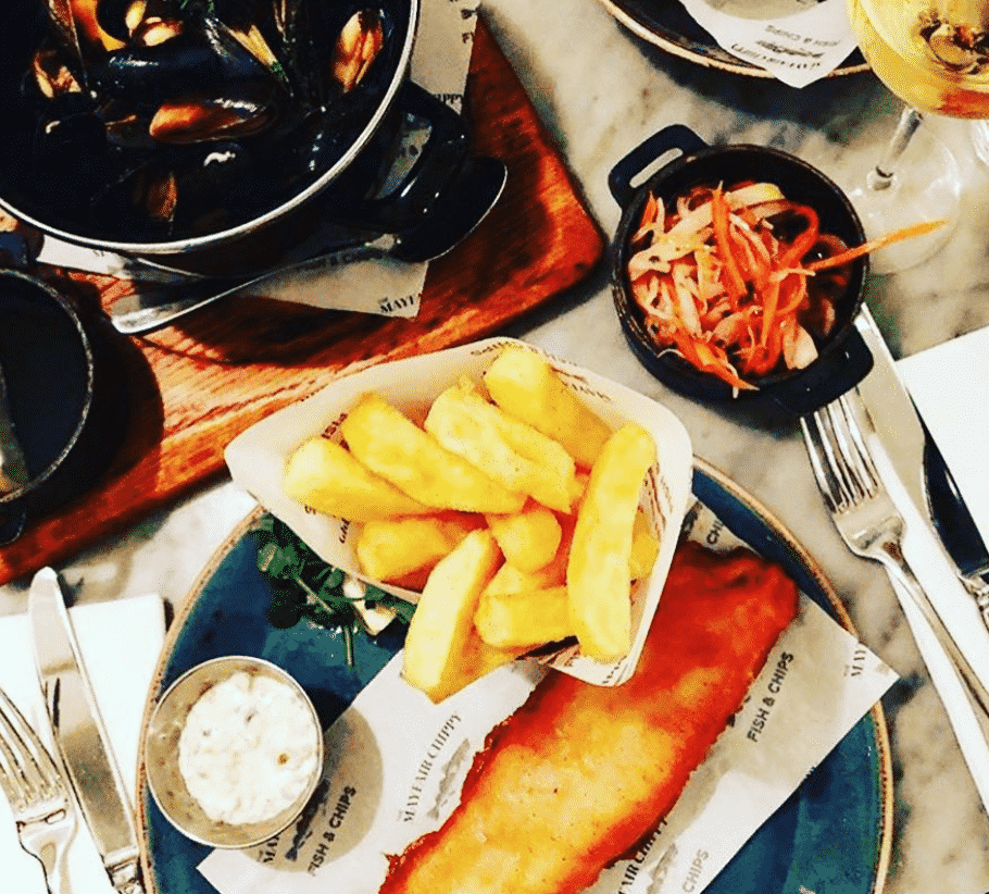 The Mayfair Chippy in England