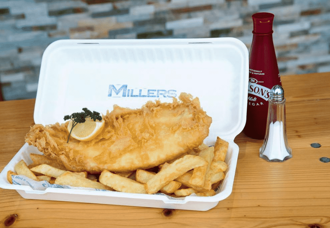 Millers Fish & Chips in England