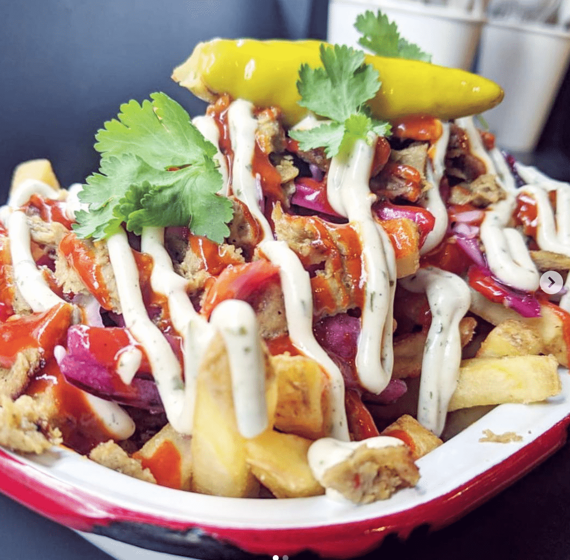 Vegan Kebab Fries in Manchester