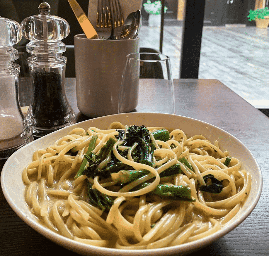Vegan Creamy Linguine in London