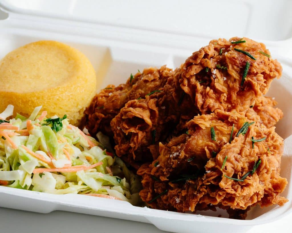 Buttermilk fried chicken and BBQ