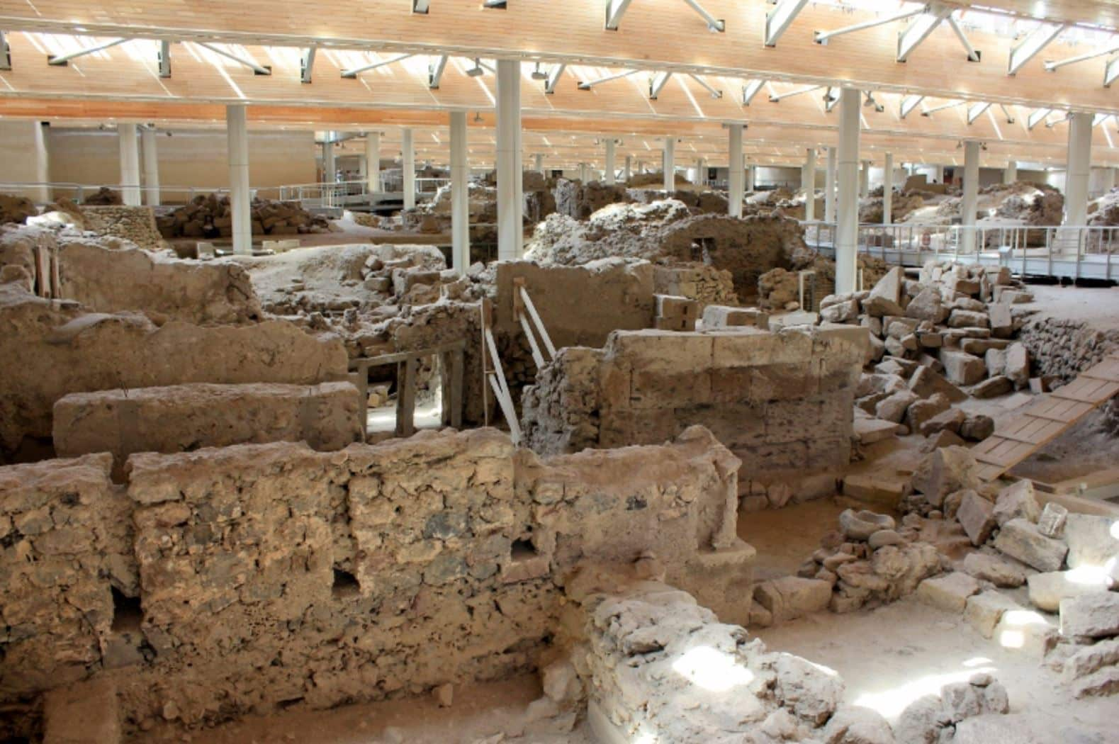 Ancient Akrotiri Ruins