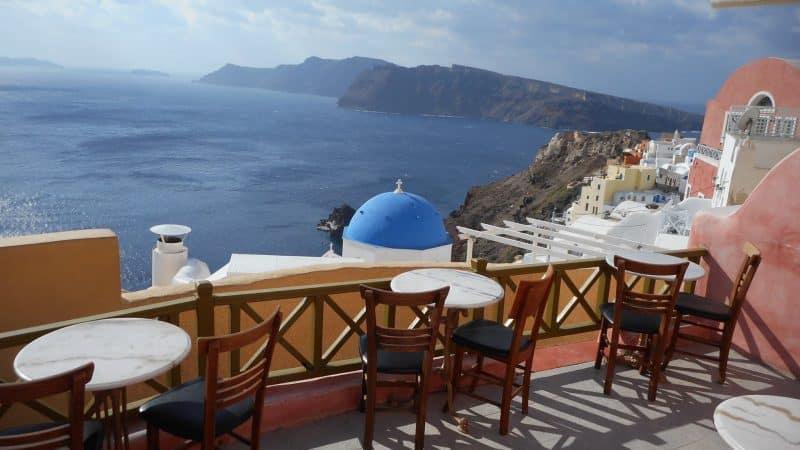 best coffee shops in Santorini greece