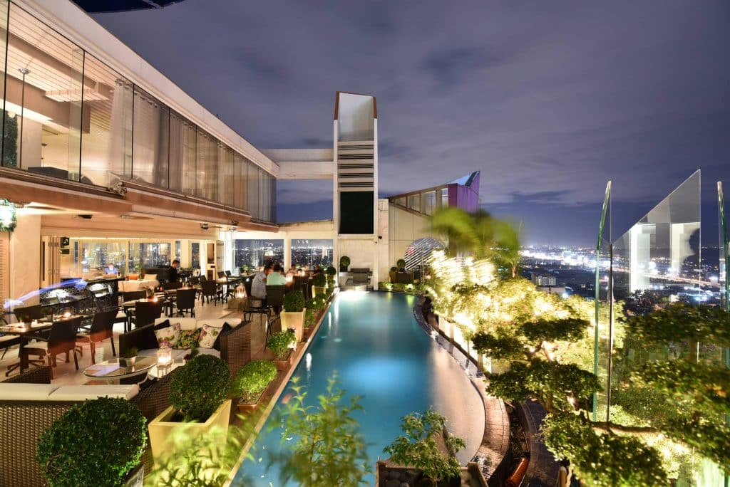 Vivere Hotel's iconic rooftop bar