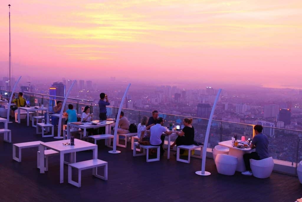 rooftop of Lotte Hotel Hanoi