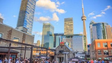 Toronto patio bar